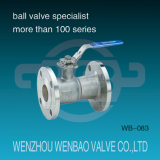 3-PC Split Body RVS CF8M Flens Drijvende Ball Valve