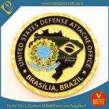 Pièce de monnaie promotionnelle faite sur commande de la défense de /Challenge/Us de souvenir d'or de police