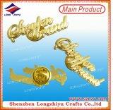 divisa del comienzo del oro del Pin de la solapa de la estrella 3D con el embrague de Butterflu