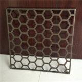 Os furos do favo de mel gravaram os painéis de alumínio perfurados para a decoração do revestimento da parede