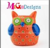 OEM cerámica innovadora 3D Decal Búho en forma de Piggy Bank baratos