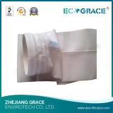 uso industrial do saco de filtro de pano da fibra de vidro do comprimento de 5000mm