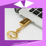 SchlüsselShaped USB Pen Drive in Silver und in Golden Plating Ku-023