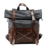 Kuh Leather Handbag und Canvas Man Fashion Backpack (RS-1008-H)