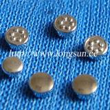 Contact de bouton de Tri-Métal approprié à la soudure continue dans le produit de matériel de contrôle électrique