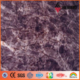 Panneaux composés en aluminium décoratifs de texture en pierre de granit et de marbre d'Ideabond 1220*2440mm