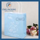 Saco de papel impresso logotipo de Custome da fábrica com punho (DM-GPBB-094)