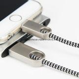 Câble de remplissage de synchro de caractéristiques en alliage de zinc de la tresse USB de technologie neuve pour l'expert en logiciel de Puls de l'iPhone 6s 6s