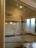 Vidro de ferro baixo temperado para tela de banheiro