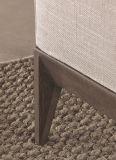 Las piernas de madera L sofá seccional de la tela de la esquina de la dimensión de una variable fijaron (FS-017)