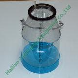Cubeta plástica transparente do leite com escala 25L para a máquina de ordenha