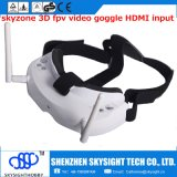 Tracciato capo aereo video di vetro degli occhiali di protezione 3D di Fpv video, input di HDMI e record di DVR