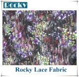 Lacet estampé par tissu en gros de lacet pour des vêtements de mode