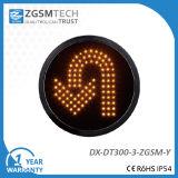 Girare intorno all'indicatore luminoso del segnale stradale di girata di U per il diametro 300mm di colore verde del rimontaggio 12 pollici