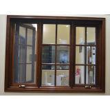 Ventana de madera de aluminio del marco con el bloqueo inestable Kz206