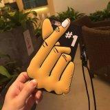 caja caliente del silicón del gesto del corazón 3D para iPhone6