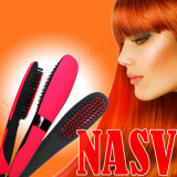LCD表示が付いている元のNasvの毛のストレートナのブラシ