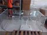 明確で白く黒いアクリルの家具表、製造によって直接なされるアクリルのコーヒーテーブル