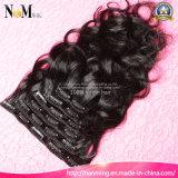 2016 grampo novo da forma 7PCS 120g em produtos de cabelo brasileiros do grampo da onda do corpo do cabelo do Virgin das extensões do cabelo humano