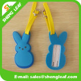 PVC ecologico Rubber Luggage Tag di Soft per Travel (SLF-LT019)