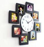 Nuovo orologio di parete di legno della cornice del blocco per grafici della foto di disegno