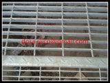 Galvanizado exterior rejilla de acero huellas de escalón
