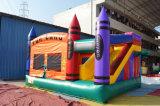 幼稚園(chb152)のためのクレヨンの跳ね上がりのコンボの膨脹可能な警備員
