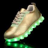 2016 lichtgevend het Laden USB Licht op LEIDENE Schoenen met 7 Veranderlijke Multicolors