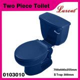 Sentado Gres S-Trampa Eddy Mango lateral Flush Aseo tocador de dos piezas rojo