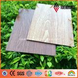 Pannello di alluminio del composto della decorazione di struttura di legno del poliestere