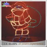 [2د] جميلة [سنتا] كلاوس الحافز عيد ميلاد المسيح أضواء زخرفيّة
