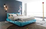 [إيوروبن] أسلوب غرفة نوم خشبيّة جلد بناء سرير ([أ-ب42])