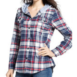 2017 Printemps Fashion Ladies Tops Plaid Cotton Casual Blouse
