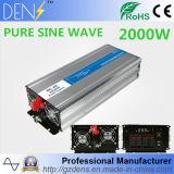 C.C. 12V del USB del convertidor del adaptador 2000W al inversor puro de la potencia de onda de seno de la CA 220V para los aparatos electrodomésticos