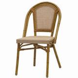 Cadeira lateral do café ao ar livre da tela de Textilene (TC-08003)