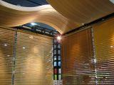 Ligne monovis en bois d'extrusion de PVC de qualité (avec les graines en bois de Natrual)