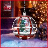 Chute de neige d'intérieur le père noël léger de l'utilisation LED de décoration de Noël