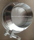 食品等級のステンレス鋼の衛生三締め金で止められた小切手弁