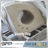 Bianco naturale/Brown/stanza da bagno di pietra di marmo nera per la parte superiore di vanità con il trattamento facilitato del bordo