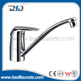 Singolo Lever Bathroom Faucet con Long Spout Brass Divertor