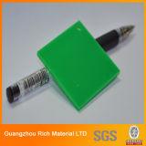 Hoja de acrílico plástica del plexiglás para la muestra de la carta del LED