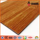 2016 recomendar o painel de alumínio da decoração da parede da textura de madeira bonita