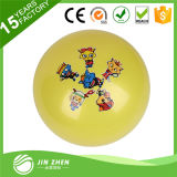 Bola colorida de la yoga del PVC con la bola de la aptitud de la impresión de la insignia