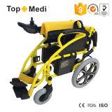 Pouvoir bon marché des prix pliant le fauteuil roulant électrique pour les personnes handicapées et âgées