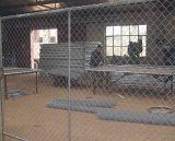 Collegamento Chain galvanizzato che recinta per la fabbrica/recinzione galvanizzata saldata/su dell'acciaio ricoperta potere recinzione provvisoria saldata visibilità della rete metallica