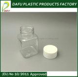 Botella plástica cuadrada de la medicina del animal doméstico 100ml
