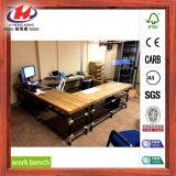 Mesa de madeira para laminado em madeira