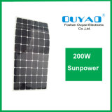 el panel solar flexible de 200W Sunpower para los barcos