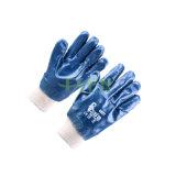 Les nitriles d'interpréteur de commandes interactif du Jersey de coton ont enduit les gants de travail de sûreté (D15-Y1)