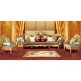Sofà di legno del tessuto con la presidenza del sofà per mobilia domestica (962A)